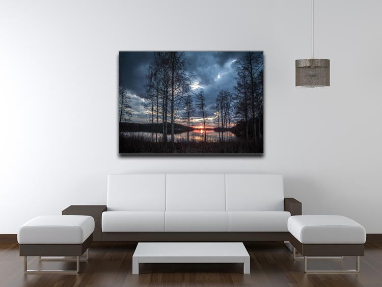 Lake Sunset Print - Canvas Art Rocks - 4