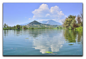 Lake of Posta Fibreno Canvas Print or Poster  - Canvas Art Rocks - 1