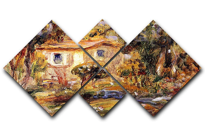 Landscape1 by Renoir 4 Square Multi Panel Canvas