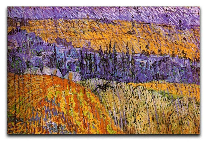 Landscape at Auvers in the Rain by Van Gogh Canvas Print & Poster  - Canvas Art Rocks - 1