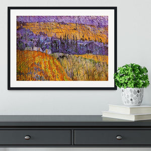 Landscape at Auvers in the Rain by Van Gogh Framed Print - Canvas Art Rocks - 1