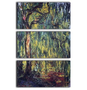Landscape by Monet 3 Split Panel Canvas Print - Canvas Art Rocks - 1