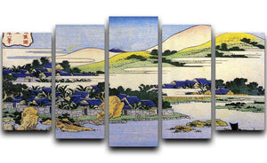 Landscape of Ryukyu by Hokusai 5 Split Panel Canvas  - Canvas Art Rocks - 1