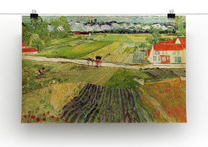 Landscape with Carriage and Train in the Background by Van Gogh Canvas Print & Poster - Canvas Art Rocks - 2