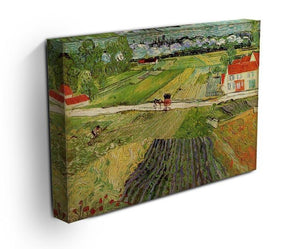 Landscape with Carriage and Train in the Background by Van Gogh Canvas Print & Poster - Canvas Art Rocks - 3