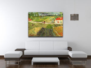 Landscape with Carriage and Train in the Background by Van Gogh Canvas Print & Poster - Canvas Art Rocks - 4