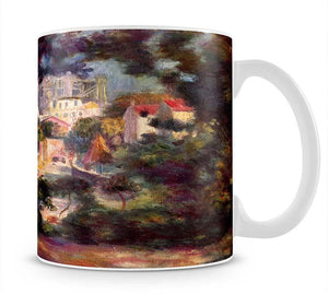 Landscape with the view of Sacre Coeur by Renoir Mug - Canvas Art Rocks - 1