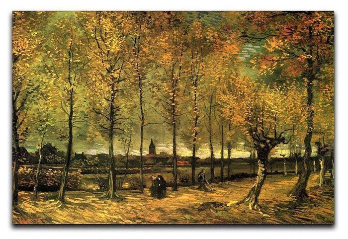 Lane with Poplars by Van Gogh Canvas Print or Poster
