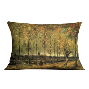 Lane with Poplars by Van Gogh Throw Pillow