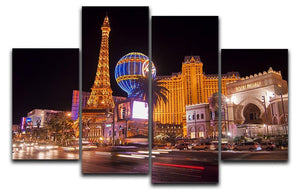 Las Vegas Blvd at Flamingo 4 Split Panel Canvas  - Canvas Art Rocks - 1