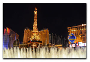 Las Vegas Paris Statue Print - Canvas Art Rocks - 1