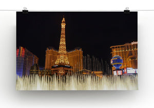 Las Vegas Paris Statue Print - Canvas Art Rocks - 2