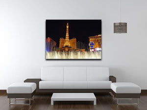 Las Vegas Paris Statue Print - Canvas Art Rocks - 4