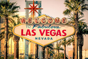 Las Vegas Welcomes You Wall Mural Wallpaper - Canvas Art Rocks - 1