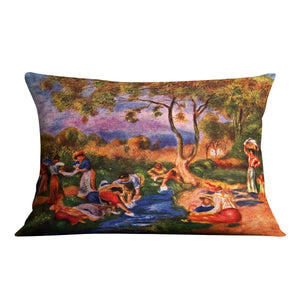 Laundresses by Renoir Throw Pillow