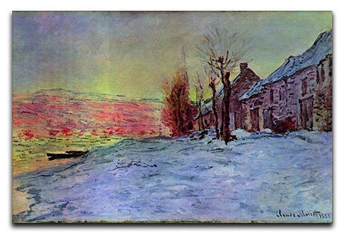 Lava Court sunshine and snow by Monet Canvas Print or Poster