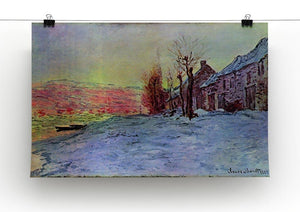 Lava Court sunshine and snow by Monet Canvas Print & Poster - Canvas Art Rocks - 2