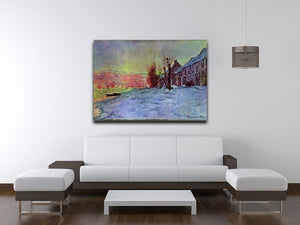Lava Court sunshine and snow by Monet Canvas Print & Poster - Canvas Art Rocks - 4