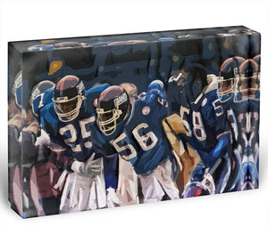 Lawrence Taylor New York Giants Acrylic Block - Canvas Art Rocks - 1