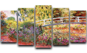 Le Bassin aux Nympheas by Monet 5 Split Panel Canvas  - Canvas Art Rocks - 1
