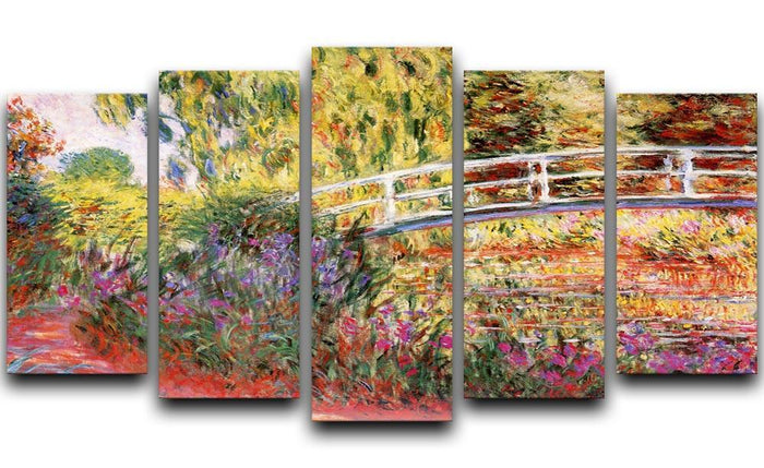 Le Bassin aux Nympheas by Monet 5 Split Panel Canvas