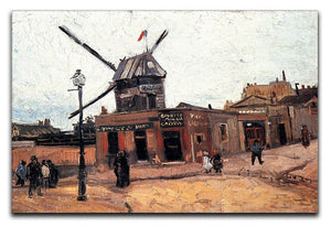 Le Moulin de la Galette 3 by Van Gogh Canvas Print & Poster  - Canvas Art Rocks - 1