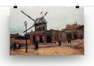 Le Moulin de la Galette 3 by Van Gogh Canvas Print & Poster - Canvas Art Rocks - 2