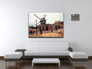 Le Moulin de la Galette 3 by Van Gogh Canvas Print & Poster - Canvas Art Rocks - 4