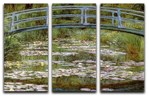 Le Pont Japonais by Monet Split Panel Canvas Print - Canvas Art Rocks - 4