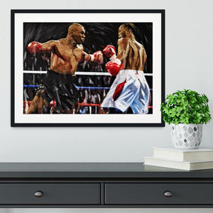 Lennox Lewis v Mike Tyson Framed Print - Canvas Art Rocks - 1