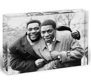Lenny Henry and Frank Bruno Acrylic Block - Canvas Art Rocks - 1