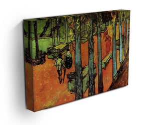Les Alyscamps Falling Autumn Leaves by Van Gogh Canvas Print & Poster - Canvas Art Rocks - 3
