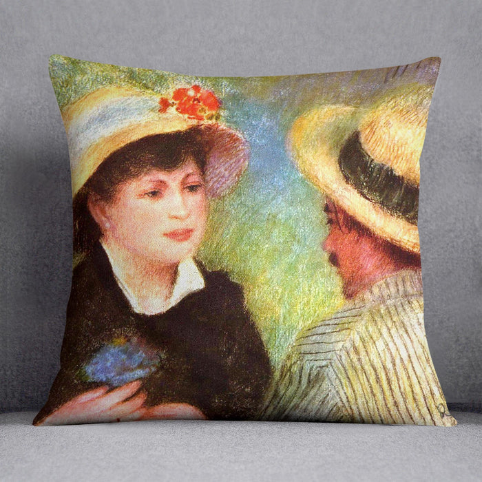 Les Canotiers by Renoir Throw Pillow