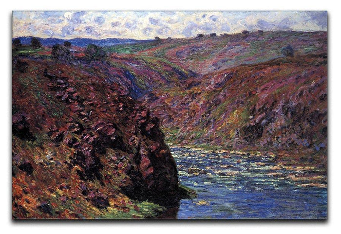 Les Eaux Semblantes in the sunlight by Monet Canvas Print or Poster