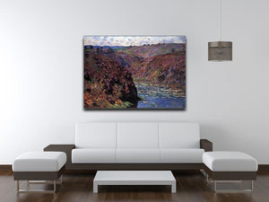 Les Eaux Semblantes in the sunlight by Monet Canvas Print & Poster - Canvas Art Rocks - 4
