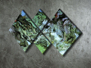 Les Peiroulets Ravine 2 by Van Gogh 4 Square Multi Panel Canvas - Canvas Art Rocks - 2