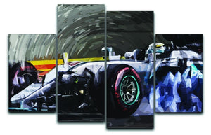 Lewis Hamilton Formula 1 4 Split Panel Canvas  - Canvas Art Rocks - 1