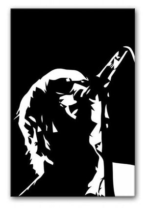 Liam Gallagher Oasis Print - Canvas Art Rocks - 1