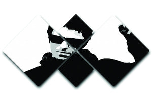 Liam Gallagher Black and White 4 Square Multi Panel Canvas  - Canvas Art Rocks - 1