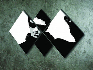 Liam Gallagher Black and White 4 Square Multi Panel Canvas - Canvas Art Rocks - 2