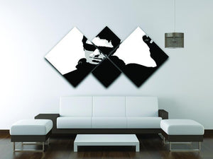 Liam Gallagher Black and White 4 Square Multi Panel Canvas - Canvas Art Rocks - 3