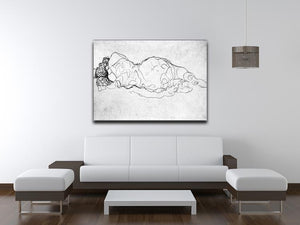 Liegende back figure by Klimt Canvas Print or Poster - Canvas Art Rocks - 4