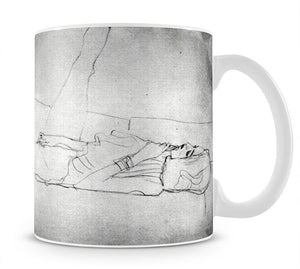 Liegender female with right leg by Klimt Mug - Canvas Art Rocks - 1
