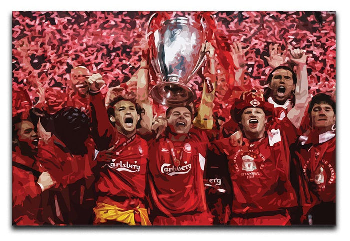 Liverpool Football Champions League In Istanbul Canvas Print or Poster