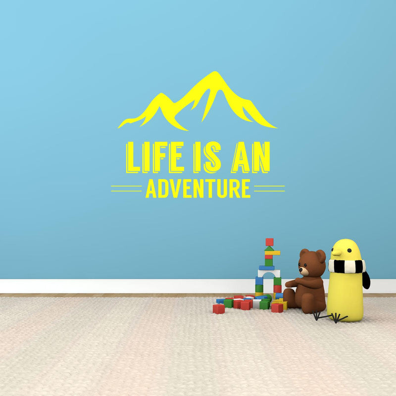 Life Is An Adventure Wall Decal - Canvas Art Rocks - 1