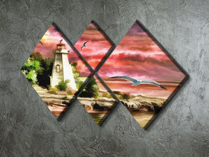 Lighthouse 4 Square Multi Panel Canvas - Canvas Art Rocks - 2