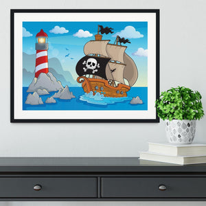 Lighthouse theme image 5 Framed Print - Canvas Art Rocks - 1