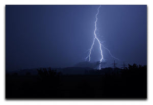 Lightning Flash Print - Canvas Art Rocks - 1