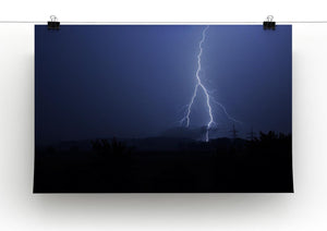 Lightning Flash Print - Canvas Art Rocks - 2