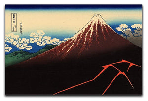 Lightning below the summit by Hokusai Canvas Print or Poster  - Canvas Art Rocks - 1